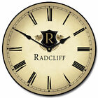 "Country Club LARGE WALL CLOCK 10""- 48"" Whisper Quiet Non-Ticking WOOD HANDMADE"