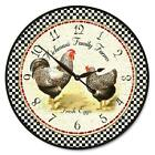 "Hickman's Rooster LARGE WALL CLOCK 10""- 48"" Quiet Non-Ticking WOOD HANDMADE"