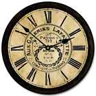 "Galeries Lafayette Brown LARGE WALL CLOCK 10""- 48"" Quiet Non-Ticking WOOD"