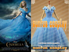 New 2015 Cinderella Princess Blue Dress Cosplay Costume Movie Custom Made