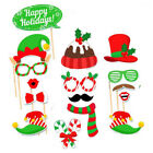 16Pcs Photo Booth Props Weddings Parties Christmas Santa Mrs Claus Reindeer