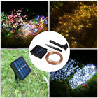 10M 100LED Solar Powered Copper Wire String Fairy Light Outdoor Lamp Xmas Decor