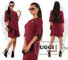 Business style Woman Dress Suiting Crepe 3/4 sleeve Above Knee Wear to work