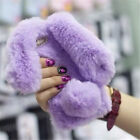 Bunny Case For iPhone 5/6/7/8 Plus Xs Soft TPU Warm Fluffy Fur 3D Rabbit Cover
