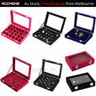 24 Grids Velvet Jewelry Jewellery Storage Box Ring Earring Necklace Mothers Day
