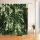 Plant Palm Leaves Waterproof Polyester Fabric Shower Curtain Bathroom 71Inch