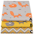 160*50CM FOX  Cotton Fabric Patchwork Baby infant linens bedding Sewing tissue