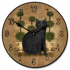 "Feline Time LARGE WALL CLOCK 10""- 48"" Whisper Quiet Non-Ticking WOOD HANDMADE"