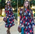 FREE GIFT + CELEBRITY FAV VTG FLORAL PRINTED WEDDING PARTY QUEEN SUN MAXI DRESS