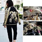 VTG IN THE CLEAR CHIARA FLORAL EMBROIDERED REVERSIBLE DRESS BOMBER JACKET COAT