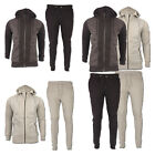 Mens Skinny Tracksuit Slim Fit Joggers Bottoms Top Panel Full Hooded Trackies