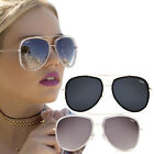 Quay Needing Fame Sunglasses Oversized Aviator Frames - UV Protection