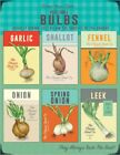 VEGETABLE BULBS - GARLIC SHALLOT ONION GARDEN GREENHOUSE METAL PLAQUE SIGN 1154