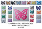 Garden Butterfly (DETAIL ONLY) Pearl & Shiny Paper! (30 pieces !) Multi Listing!