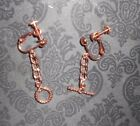 Copper Plated Aluminum 4 mm Curb Chain Earrings, Bracelet, Necklaces.  Select. image