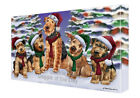 Airedales Dog Christmas Family Portrait Holiday Canvas Wall Art
