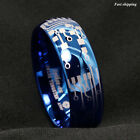 Kyпить 8mm Shiny Blue Dome Tungsten Carbide Ring Laser Circuit Board ATOP Men's Jewelry на еВаy.соm