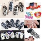 nail wrap - 32 Colors Black + White Lace Nail Art Stickers Wraps Transfer Foil *BUY2GET2FREE