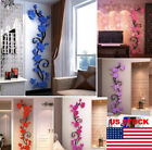 3d Butterfly Flower Fairy Floral Girl Wall Sticker Home Decor Decals Vinyl Art