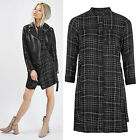 TOPSHOP Check Shirt Dress in Black Sizes 6 to 12