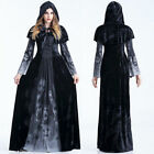 New Halloween Party Black Witch Uniform Cosplay Costume Women Adult Fancy Dress