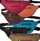 Travel - Joggers Leather Color Fanny Pack Waist Belt Bag Purse Hip Small Travel Pouch New