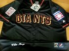 Brand New SF GIANTS #24 Willie Mays wDual patches sewn Majestic Jersey BLACK men