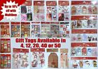 Christmas Present Gift Tags Sack Different Design Cute Traditional 4 12 20 24 50