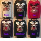 NEW UNISEX MENS LADIES CUTE RUDOLPH THE RED NOSE CHRISTMAS JUMPER UK 8-14