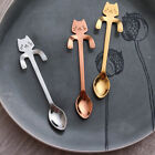 Cute Stainless Steel Cat Coffee Drink Spoon Tableware Kitchen Tool Hanging Hook