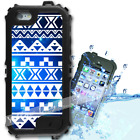 For iPhone 6 PLUS 5.5inch Waterproof TOUGH Case Blue Aztec Galaxy Y01006
