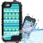 For iPhone 6 PLUS 5.5inch Waterproof TOUGH Case Blue Aztec Tribal Y01008