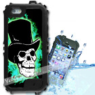 For iPhone 6 PLUS 5.5inch Waterproof TOUGH Case Green Skull Flame Y01013