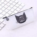 Silicone Cat Makeup Cosmetic Case Pen Pencil Bag Zipper Coin Pouch Purse Gift