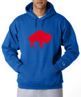 Buffalo Bills Legacy Logo Champion Hoodie Pullover Jumper Sweatshirt Royal Blue