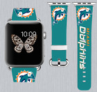 Miami Dolphins Apple Watch Band 38 40 42 44 mm IWatch PU Leather Strap 261 on eBay