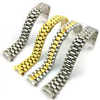 20mm Two Tone Solid Curved End Link Steel Watch Band Strap President Bracelet