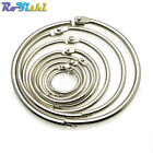 Внешний вид - Loose Leaf Book Binder Hinge Snap O Ring Locking Keychain Metal Craft Parts