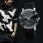 Luxury Quartz Military Sport Stainless Steel Dial Leather Band Wrist Watch US