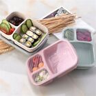 Bento Microwavable Food Prep Box  Container 3 Compartment Meal Storage 4colors