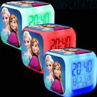 LED 7 Color-Changing Digital Clock Alarm Frozen Princess with Thermometer