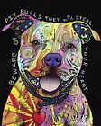 BEWARE OF PIT BULLS THEY WILL STEAL YOUR HEART - STOP DOG FIGHTING ART POSTER