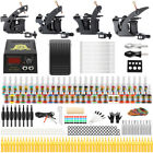 Complete Tattoo Kit 4 Machine Gun Professional Tattoo Inks Needles Grips TK457
