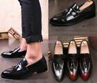 Ta Womens Vintage Tassel Pointy Toe Formal Retro Slip On Loafer Flat Dress Shoes