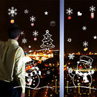 Christmas Shop Decorations For Home Window Wall Sticker Decals DIY Xmas Party