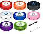 ChargeHub-X7 Super Charger 7-Port Round USB Charging Station, 8 Different Color.
