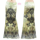 Floral Moroccan Boho Sublimation long maxi skirt (S/M/L/XL/1XL/2XL/3XL)