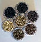 Silicone Nano Micro Rings Beads for use with Nano Hair Extensions