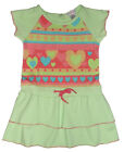 Size 3 - Girls Bright Bots Dress in Lime Green with print on front, + pantie