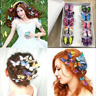 5Pcs Butterfly Hair Clips Bridal Hair Accessories Wedding Headwear Costume Xmas